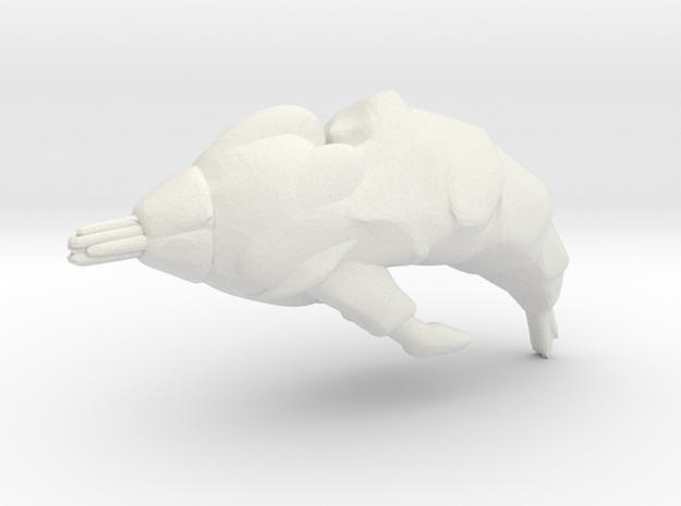 Slagoid Cruiser - Concept B  in White Natural Versatile Plastic