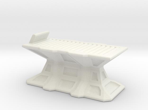 Medic bed 28mm in White Natural Versatile Plastic