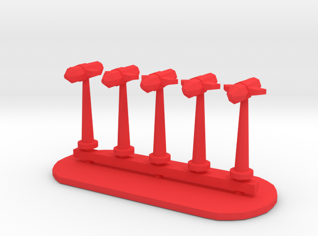 Rockets Sprue - Variant 6 in Red Processed Versatile Plastic