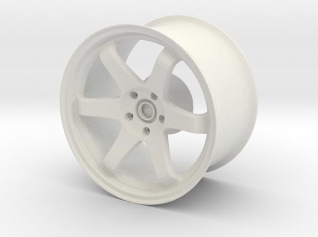 TE37 Replica  1:14 scale in White Natural Versatile Plastic