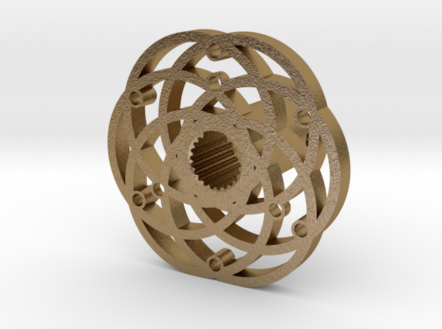 Quick Release Hub Circular Pattern in Polished Gold Steel
