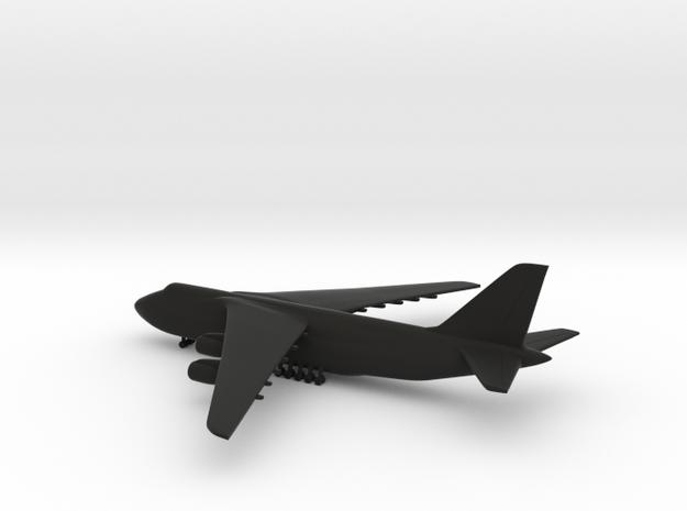 Antonov An-124 Ruslan in Black Natural Versatile Plastic: 1:700