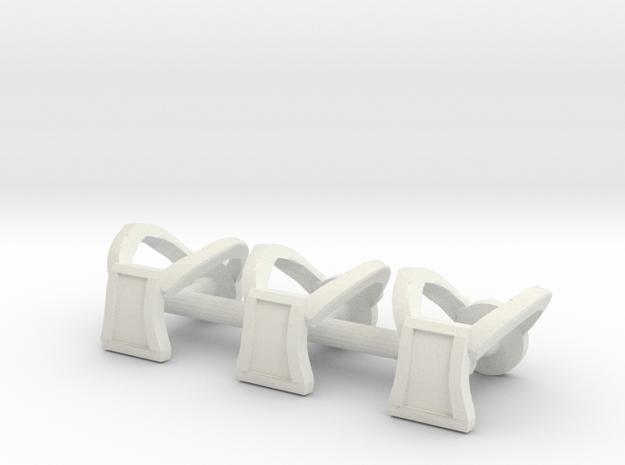 Galaxy Warriors Square Harnesses - Mega Construx in White Natural Versatile Plastic