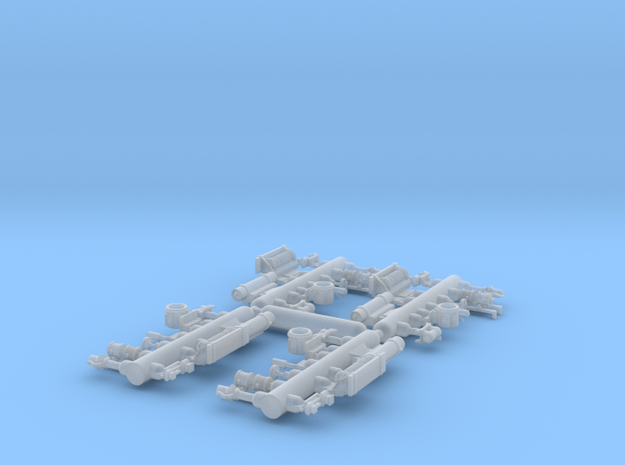 Plastic detail parts for RLW Nn3 Heisler kit in Smooth Fine Detail Plastic
