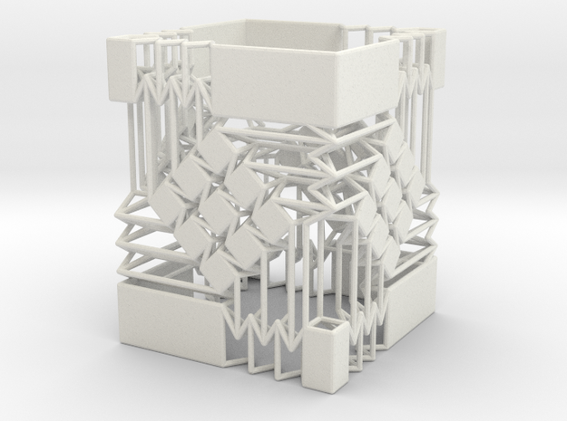 Square Wire Tube With Tessellation Single