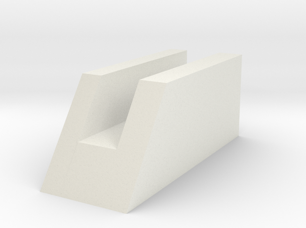 Switch Holder for DL-44 based builds Momentary tri in White Natural Versatile Plastic