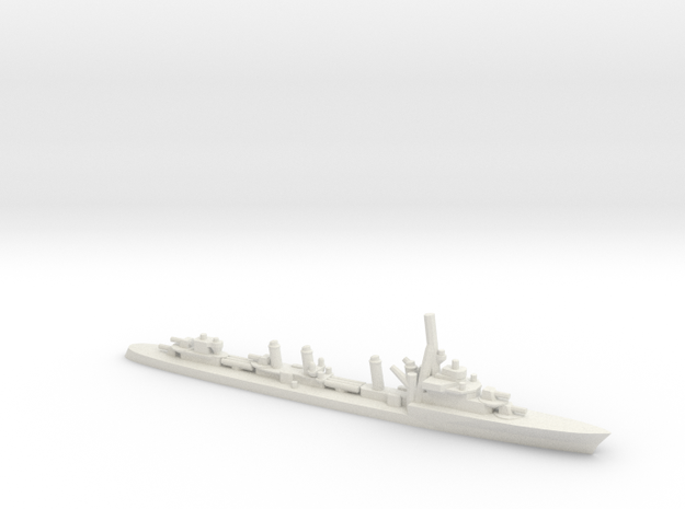 French Aigle-Class Destroyer  in White Natural Versatile Plastic