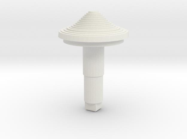 STEM_4WAY_COOLIE_4_LARGE in White Natural Versatile Plastic