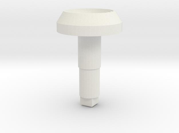 STEM_4WAY_COOLIE_2_CONCAVE in White Natural Versatile Plastic