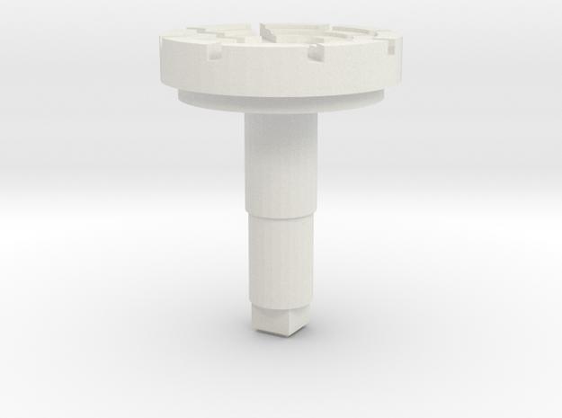 STEM_4WAY_MISC_2_SPIDER in White Natural Versatile Plastic