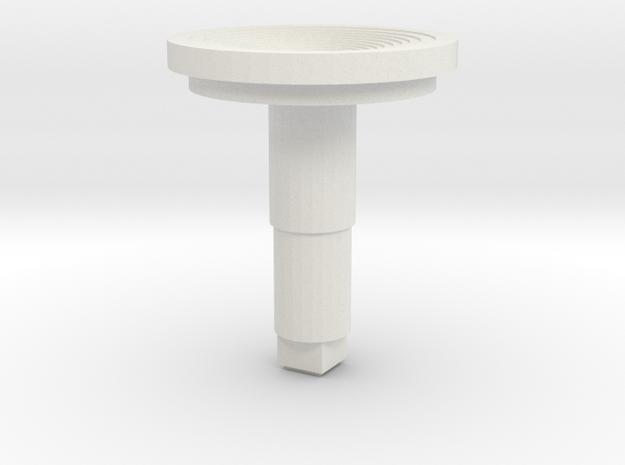 STEM_4WAY_COOLIE_5_CONCAVE_LARGE in White Natural Versatile Plastic