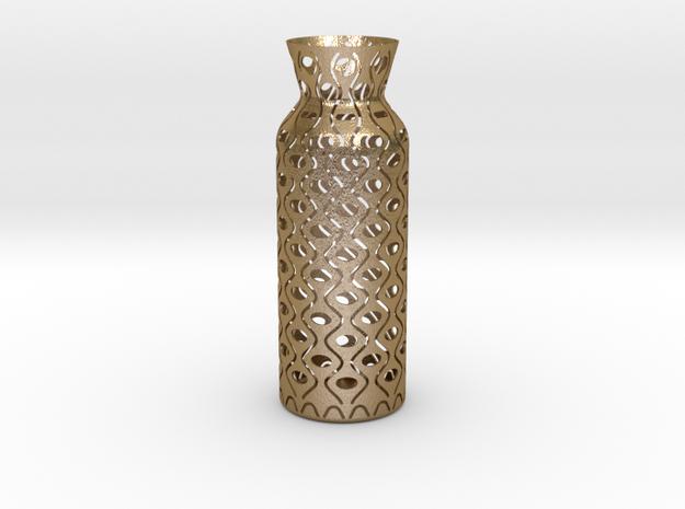 Vase_05 in Polished Gold Steel