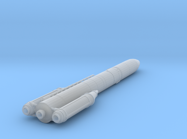 Ariane 6 (with 2 boosters) ( ESA) 1:400 scale in Smooth Fine Detail Plastic