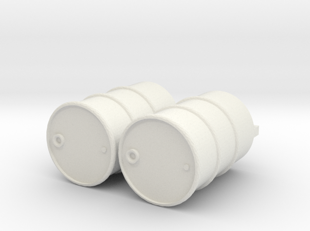 Ölfass oil drum 1:24 124 1/24 oildrum in White Natural Versatile Plastic