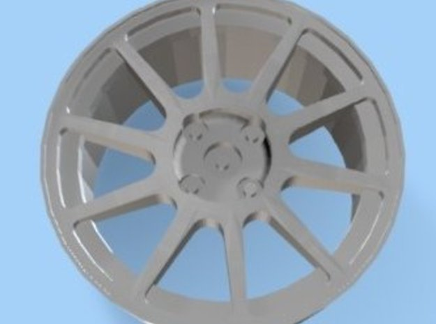 Mitsubishi Evo VI Rim 4 Hole for Tamiya 1/24 in White Natural Versatile Plastic