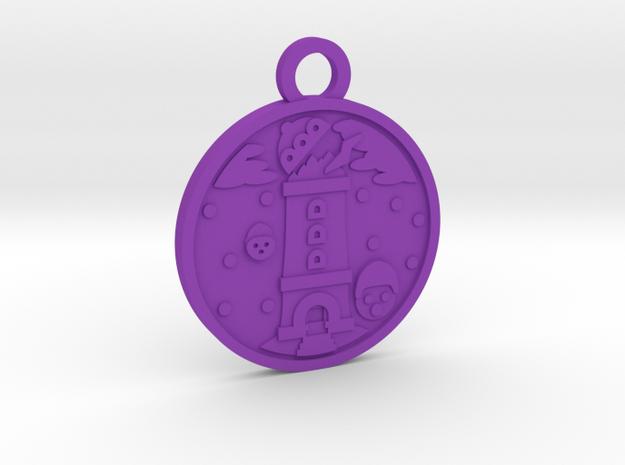The Tower in Purple Processed Versatile Plastic