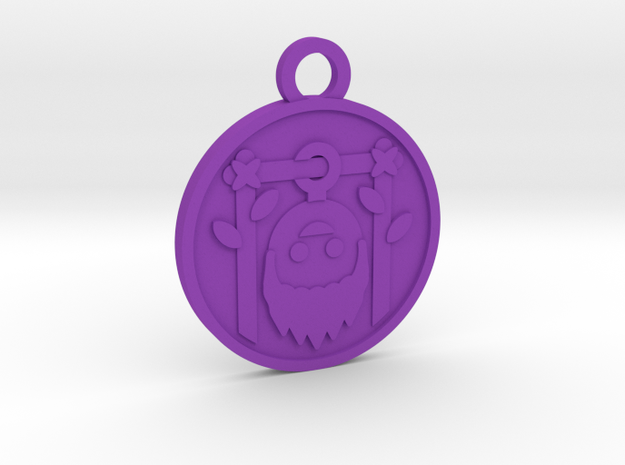 The Hanged Man in Purple Processed Versatile Plastic