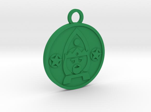 King of Pentacles in Green Processed Versatile Plastic