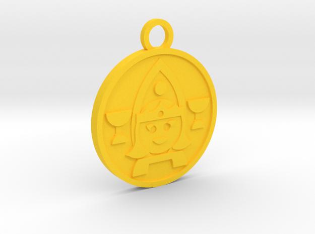 Queen of Cups in Yellow Processed Versatile Plastic