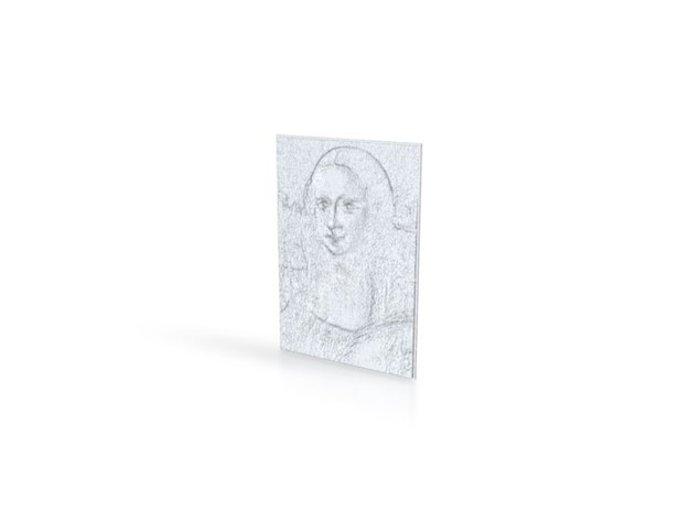 Mona Lisa in White Natural Versatile Plastic