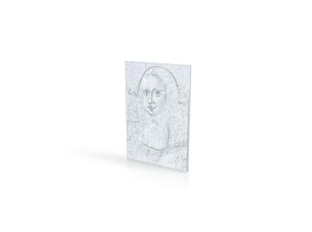 Mona Lisa in White Natural Versatile Plastic