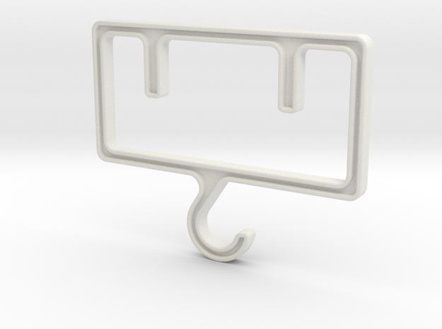 Industrial Hanger in White Natural Versatile Plastic