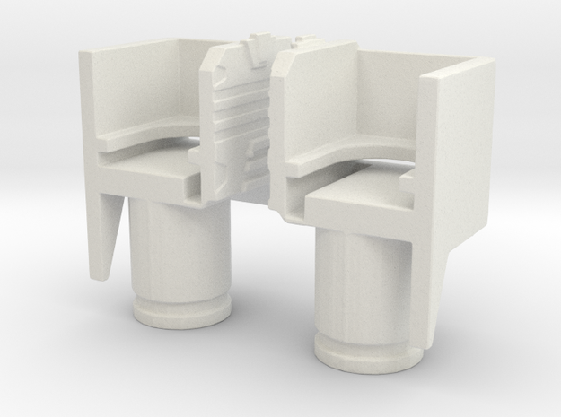 TF WFC Siege - Ultra Magnus Thigh Extenders in White Natural Versatile Plastic