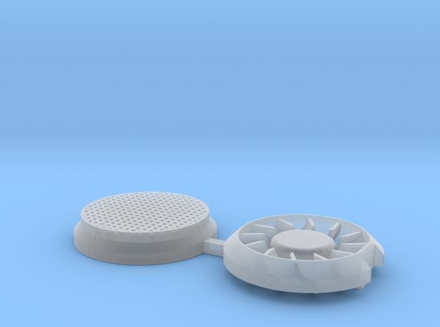 Sr12 tuulettimet in Smooth Fine Detail Plastic