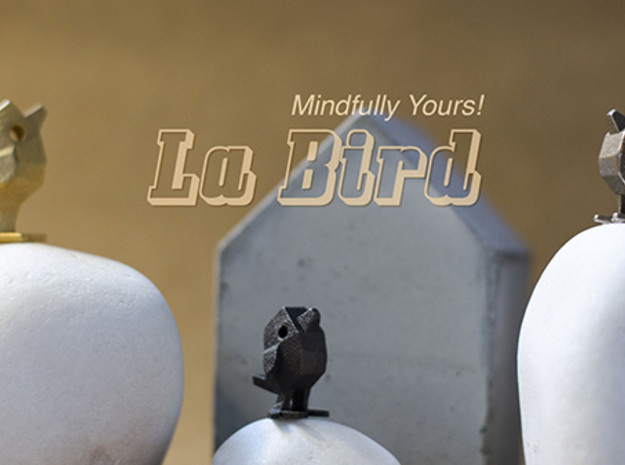 LaBird 30MM in Polished Bronzed Silver Steel