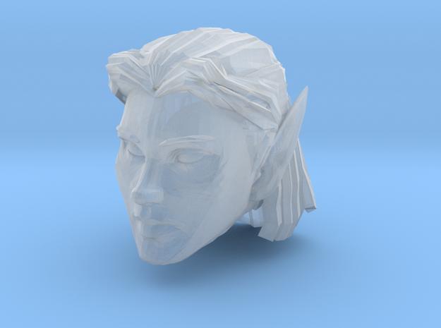 Elf Head Female 2 in Smooth Fine Detail Plastic