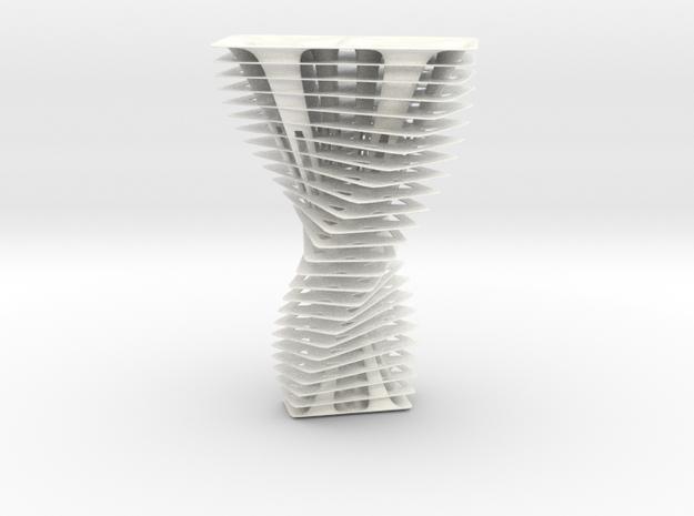 Twisted skyscraper in White Processed Versatile Plastic: 1:10