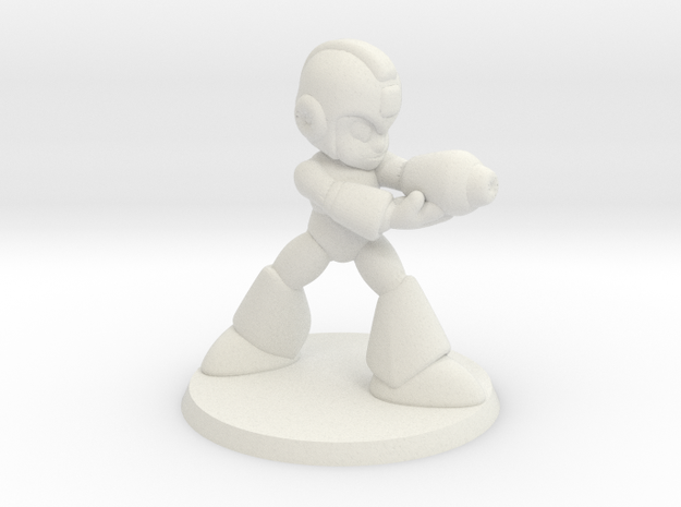 Megaman 1/60 miniature for games and rpg scifi in White Natural Versatile Plastic