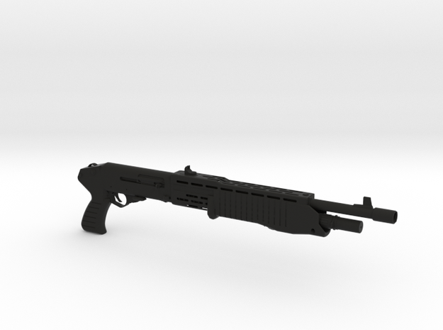 1/4th Scale SPAS12 Shotgun in Black Natural Versatile Plastic
