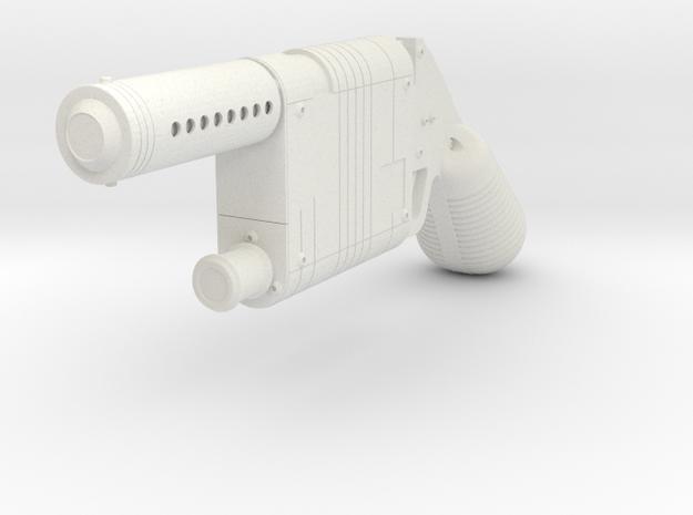 1:6 Miniature Blaster Pistol in White Natural Versatile Plastic