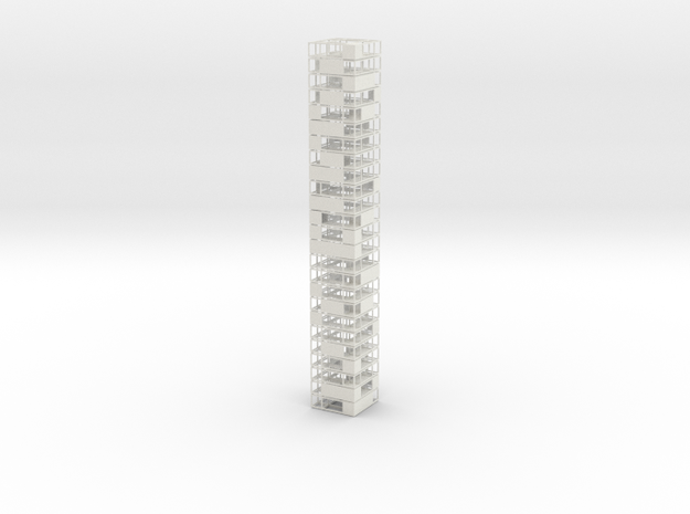 M100_Cubic Reduction Tower  in White Natural Versatile Plastic