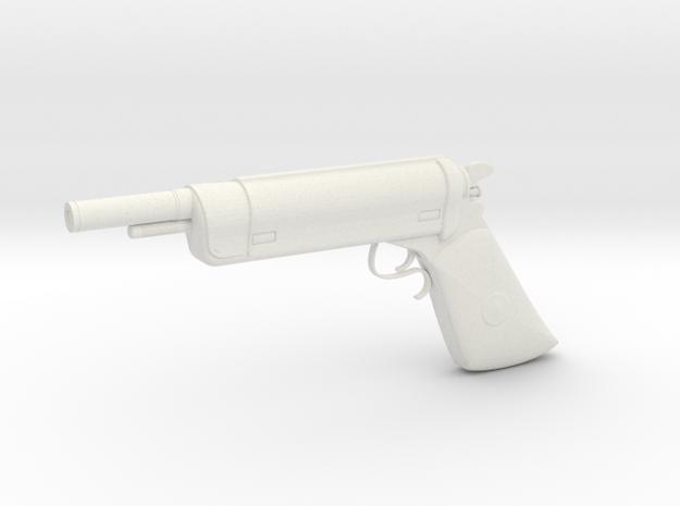 1:3 Miniature Bounty Hunter Blaster in White Natural Versatile Plastic