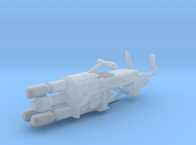Blaster Cannon - 10cm in Smooth Fine Detail Plastic