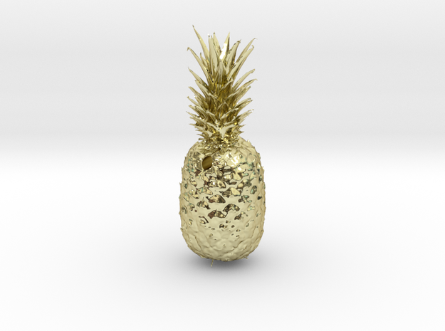 Pineapple Pendant in 18K Yellow Gold
