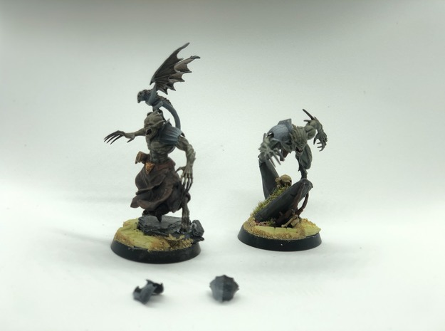 40x Ghoul King Pauldrons, Flesh Eater Knight Elbow in Smooth Fine Detail Plastic