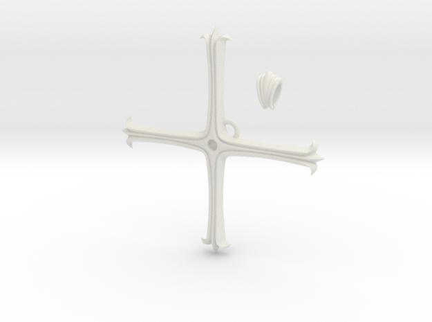 Kugo Ginjo's Pendant in White Natural Versatile Plastic: Small