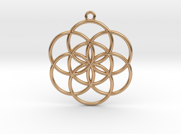 Seed of Life in Polished Bronze