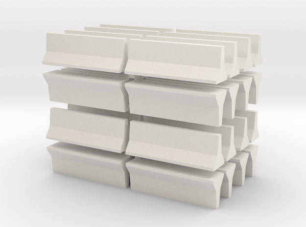 Barrier-JerseyWall-32 in White Natural Versatile Plastic
