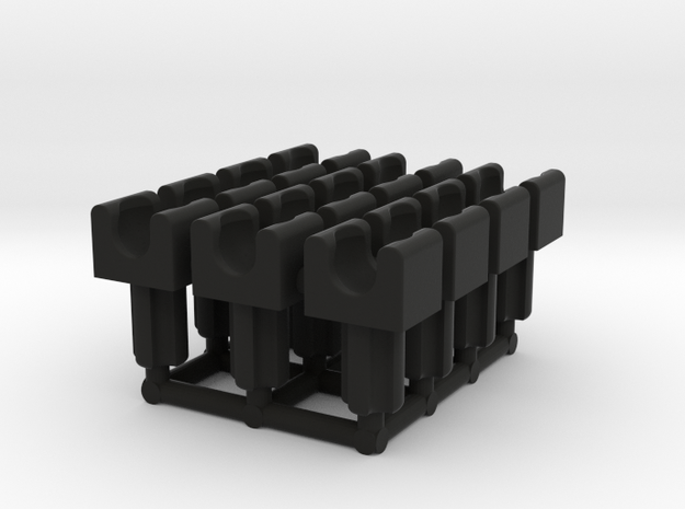 Towball Socket with Axle x12 in Black Natural Versatile Plastic