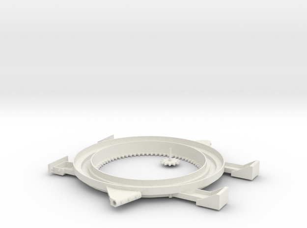 1/6 scale GoTruck ring gear & support in White Natural Versatile Plastic