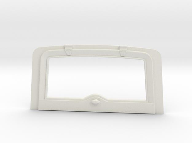 Tamiya Jeep YJ/CJ Rear Window in White Natural Versatile Plastic