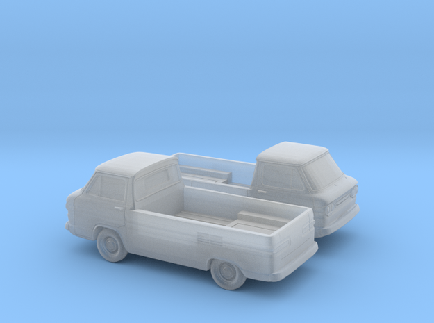 1/160 2X 1961-65 Chevy Greenbrier PickUp in Smooth Fine Detail Plastic