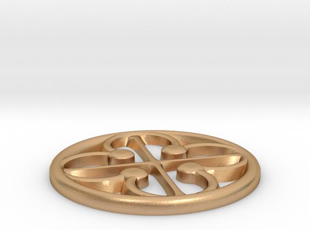 Quatrefoil Pommel Marker in Natural Bronze: 2 / 41.5