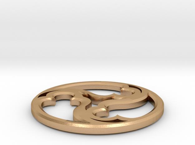 Triskele Pommel Marker in Natural Bronze: 1.5 / 40.5