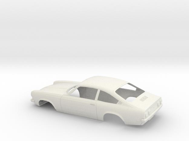 1/12 1971 Chevrolet Vega Hatchback in White Natural Versatile Plastic