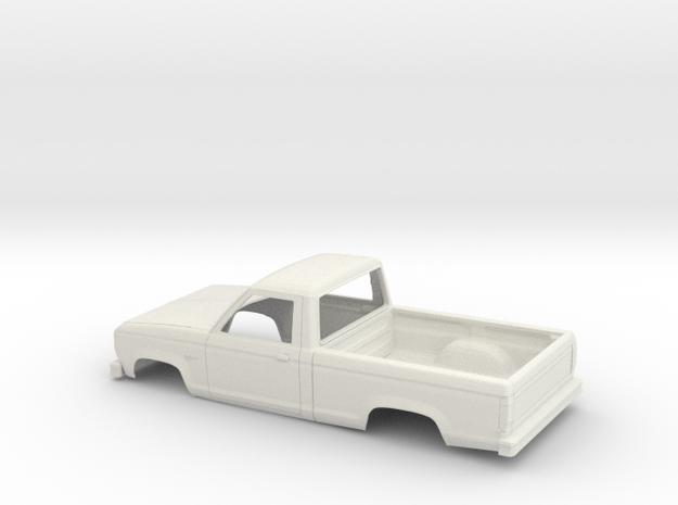 1/24 1983-88 Ford Ranger Reg Cab Shell in White Natural Versatile Plastic